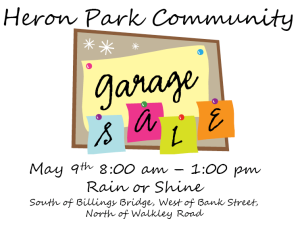 Heron Park Garage Sale