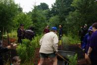 More than 20 volunteers moved a few tons of dirt in the first day of the build